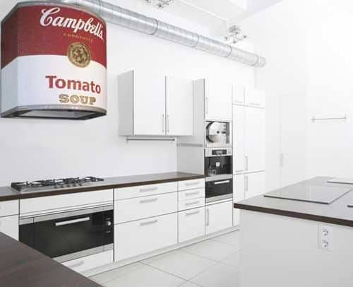 Campbell's soup can range hood