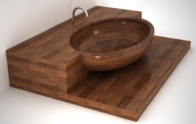 Unique Wood bathtub