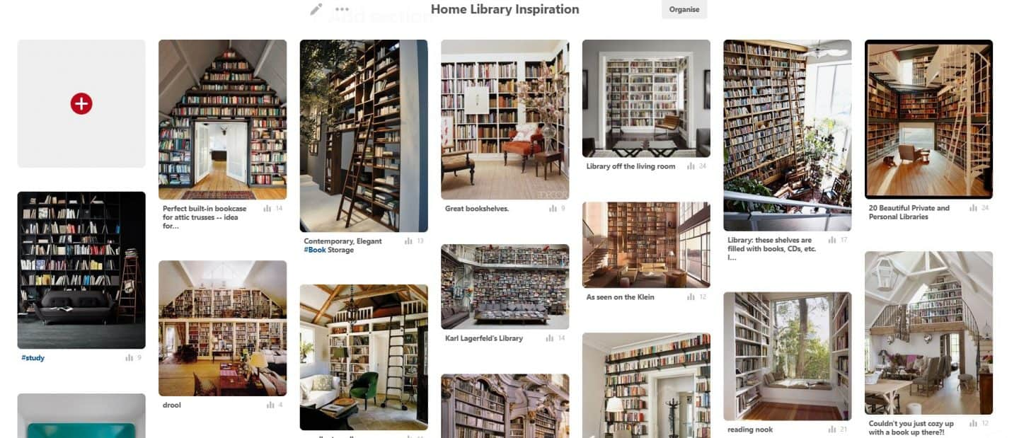 Home Library Inspiration from The Design Sheppard on Pinterest