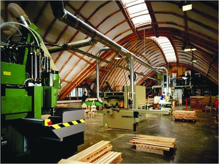 Hooke Park Workshop Interior