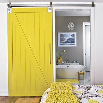 Yellow Grey Ensuite Bedroom Designed By Tracery Interiors