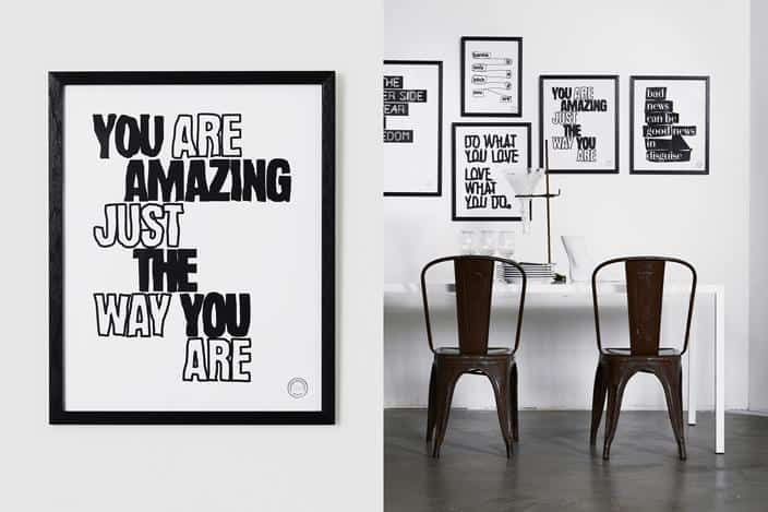 Typographic Artwork by Therese Sennerholt