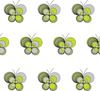 Loopy Butterflies Blind by Fiona Flame for Creatively Different Blinds