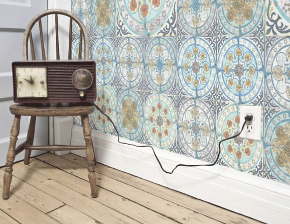 Mixed Folk wallpaper by Louise Body
