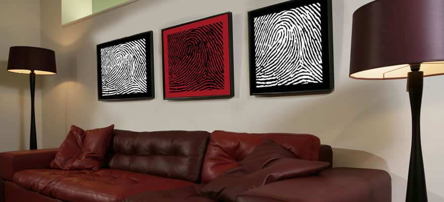 Finger print portraits by DNA11