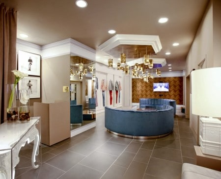 Top Man Personal Shopping Suite designed by Lee Broom