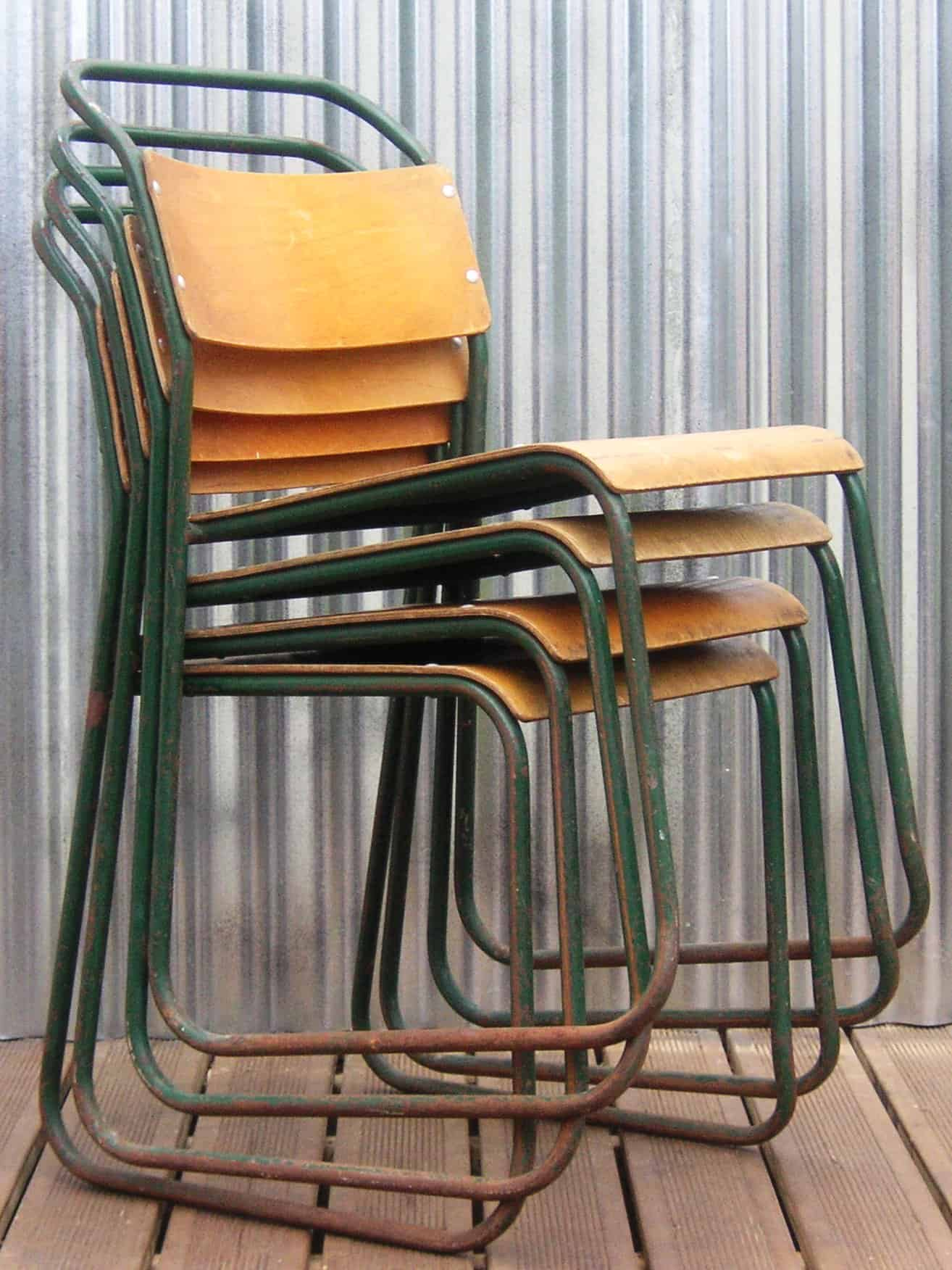 Vintage Tubular Frame Chairs from Bubbledrum