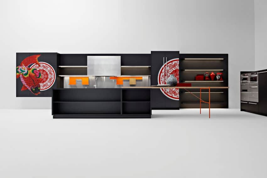 Asian-inspired kitchen from the Playground collection by Elmar Cucine