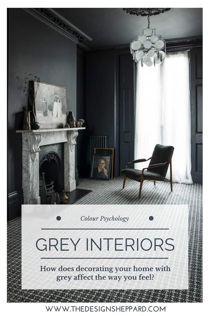 Tips and advice for using grey in interior design according to the principles of colour psychology