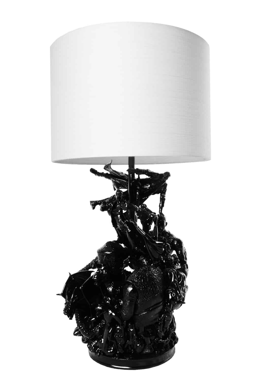 Matrix Black lamp by Evil Robot Designs