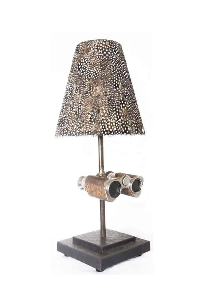 Antique binocular lighting by Antiques by Design