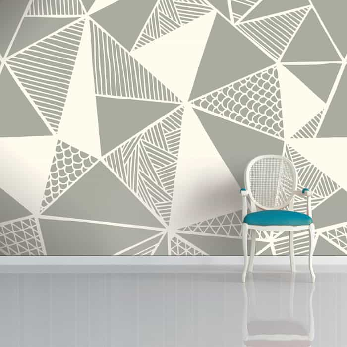 Grey Truss Wallpaper by Sian Elin