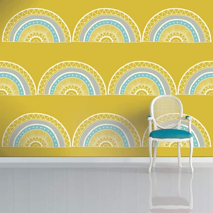 Horseshoe Arch Wallpaper by Sian Elin