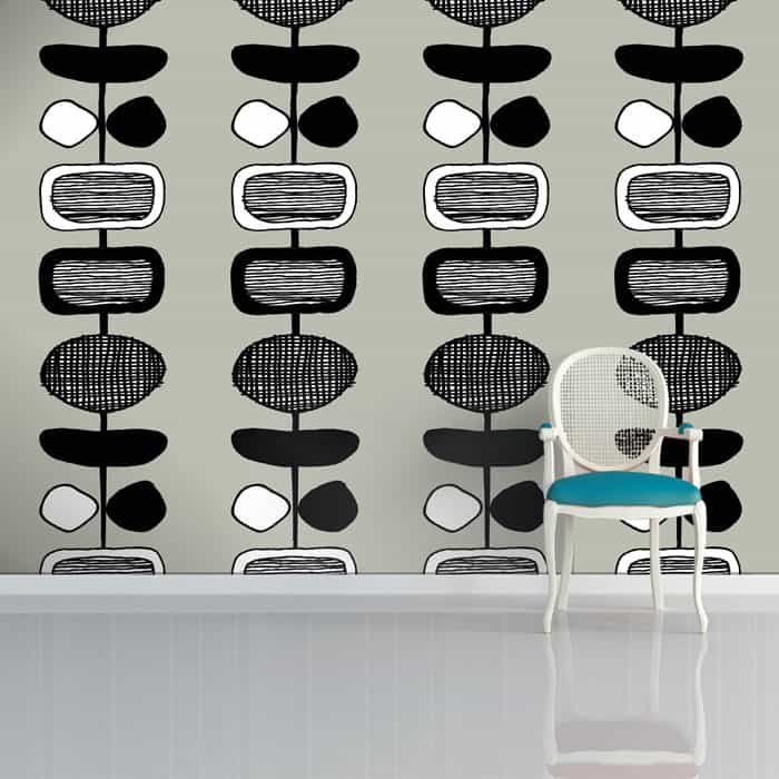 Inlay Wallpaper by Sian Elin