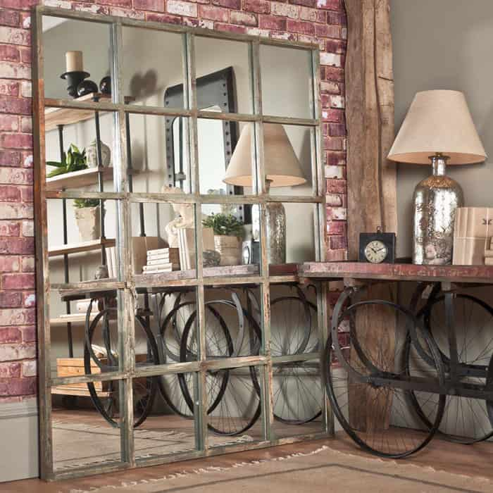 Large Factory Window Mirror By Uniche Interior Furnishings