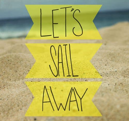 Let's Sail Away Print by Leah Flores