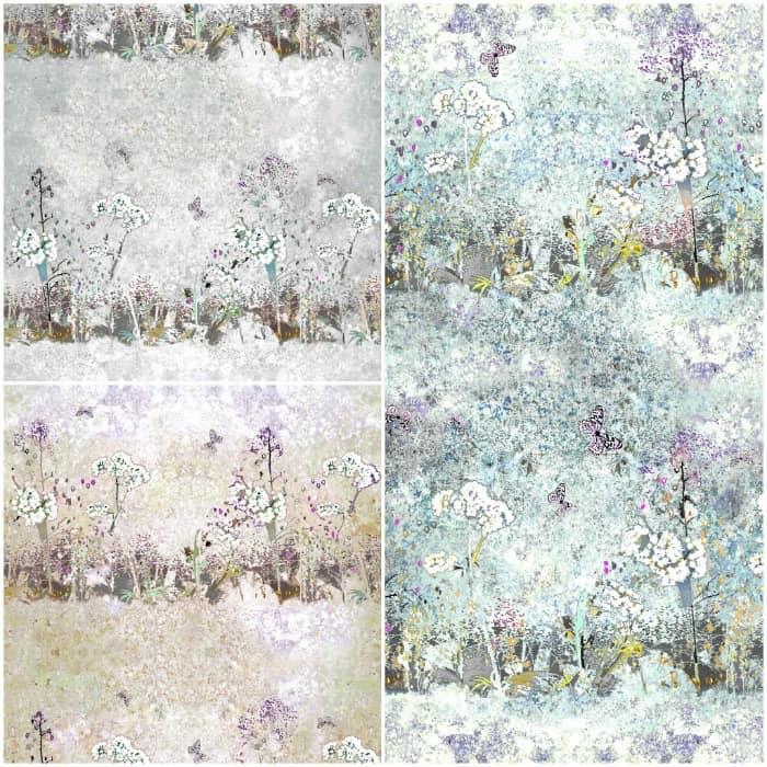 Meadow Wallpaper by Louise Body - Closeup