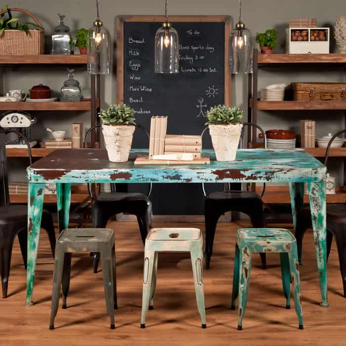 Painted Steel Dining Table By Uniche Interior Furnishings