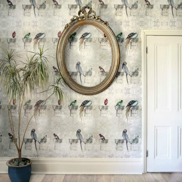 Perched Wallpaper by Louise Body