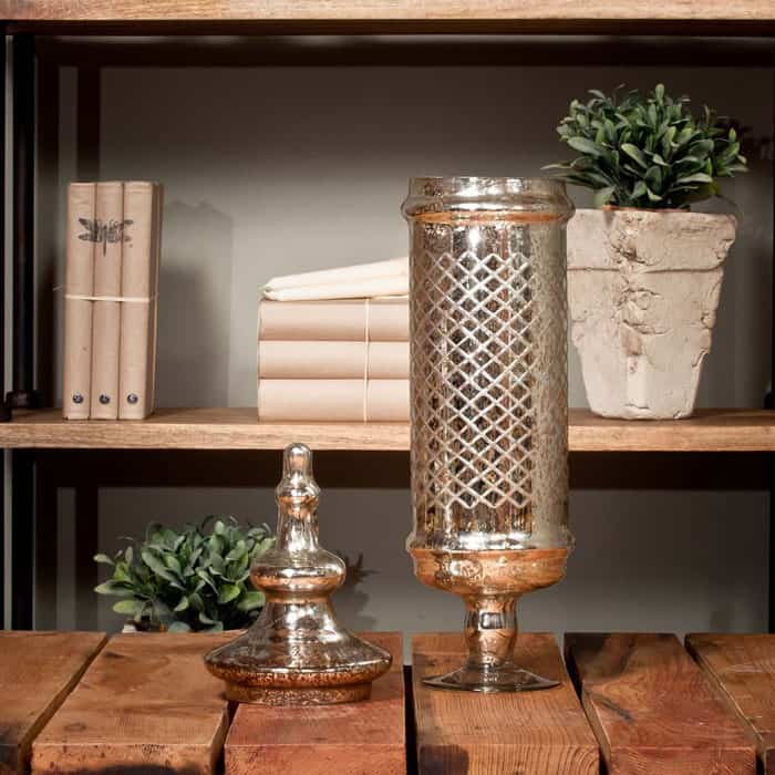 Tall Mercury Glass Vase By Uniche Interior Furnishings