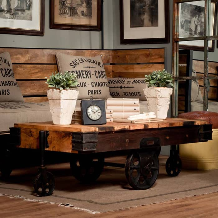 Warehouse Cart Coffee Table By Uniche Interior Furnishings