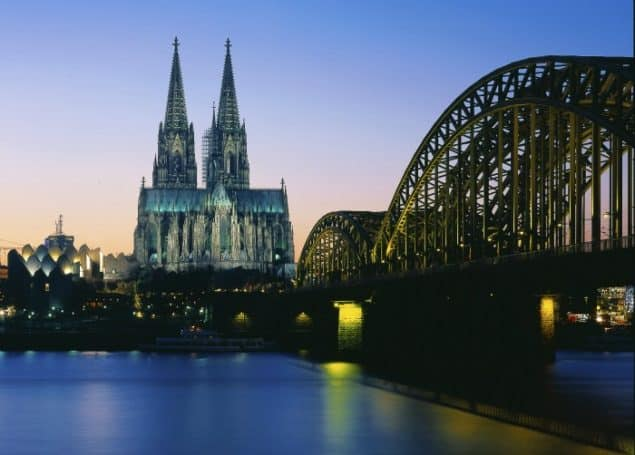 Cologne Cathedral & Bridge in Cologne Germany