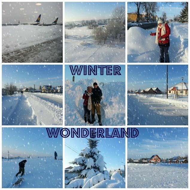 Snow in Kalinowo Poland  Winter 2012