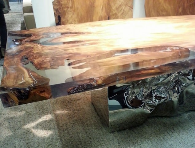 Riflessi in laguna Table by Riva 20 at imm cologne 2013