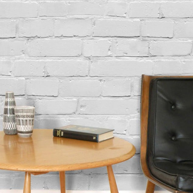 Chalk Decor Loft Brick Wallpaper