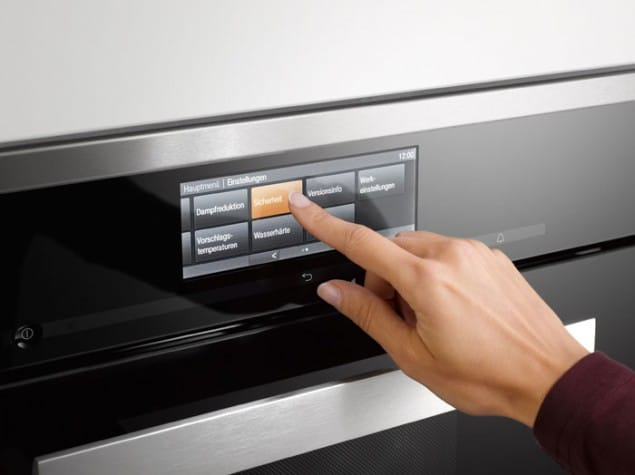 Generation 6000 built-in kitchen appliances from Miele with touch screen controls