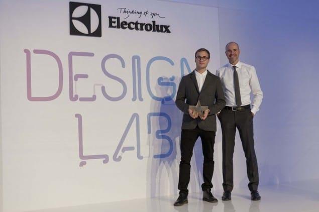 Jan Ankiersztajn, Winner of the Electrolux Design Lab 2012 with Electrolux Design Director Thomas Johansson