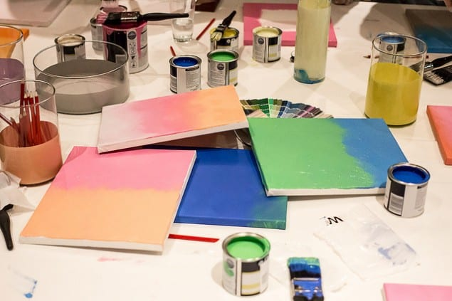 Dulux Ombre paint effect workshop with Marianne Shillingford Creative Director of Dulux