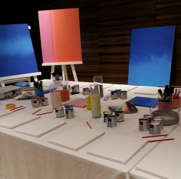 Dulux Flocking paint effect workshop at Meet the Blooger London
