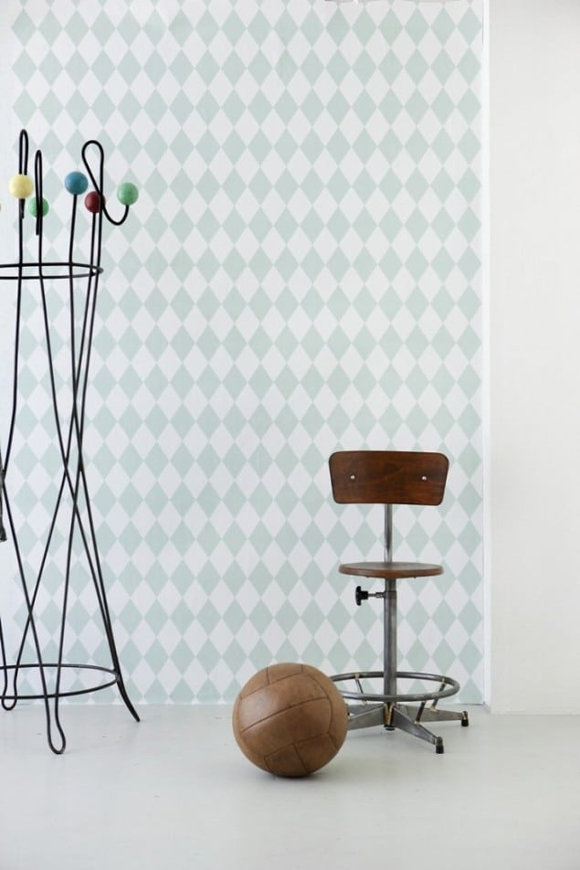Ferm Living Geometric Wallpaper - Harlequin