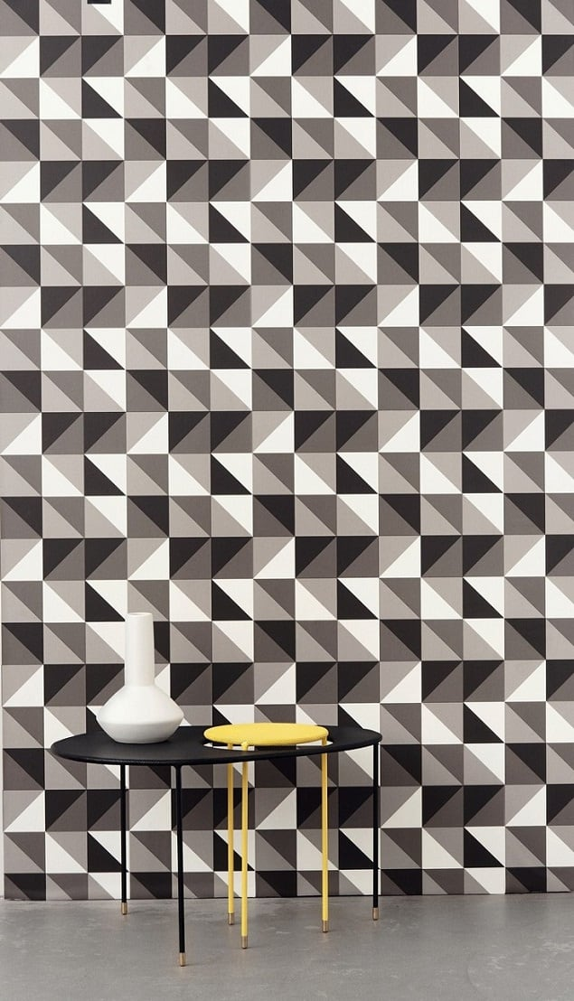 10 Stunning Geometric Interior Design & Designer Wallpaper Ideas ...