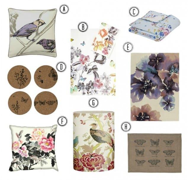 Interiors Trend Secret Garden Birds, Blooms & Butterflies
