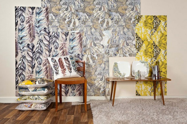 Surface pattern design for wallpaper, cushions & Ceramics by Surfacephilia