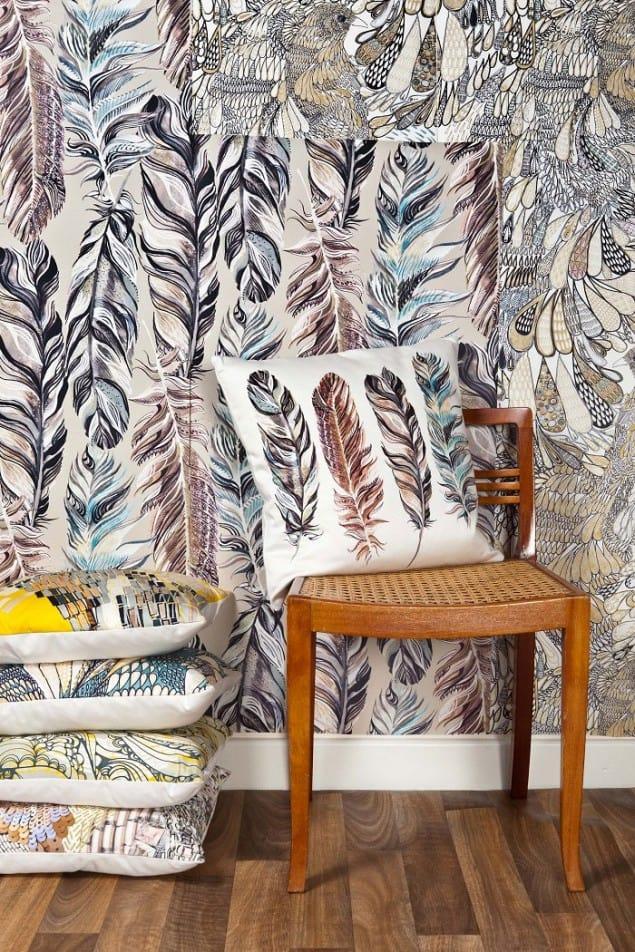 Wallpaper & Cushions by Surfacephilia