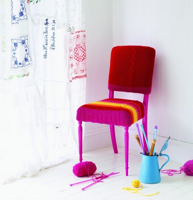 Knitted Chair from Hand-Knit your Home book by Melanie Porter