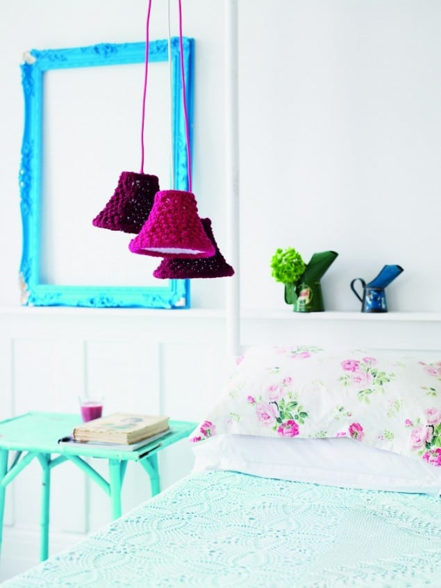 Knitted Lampshades from Hand-Knit Your Home book by Melanie Porter