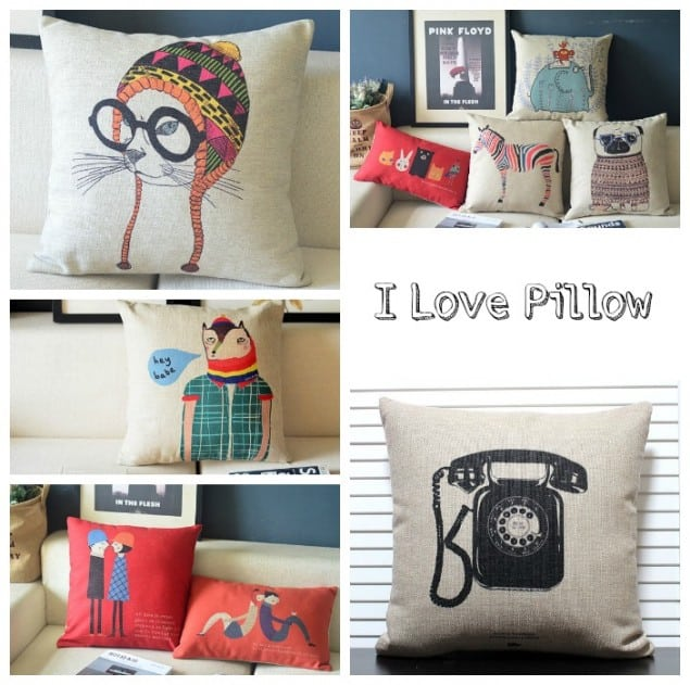 iLovePillow printed cushions
