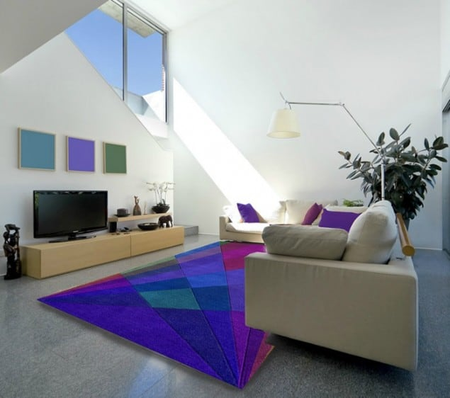 Dusk Rug by Sonya Winner in situ