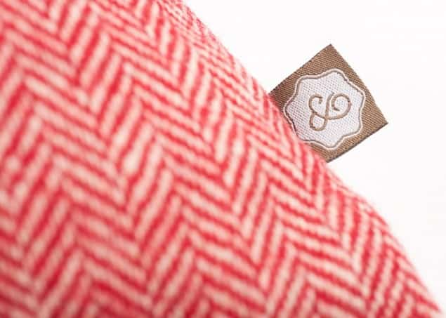 Thread & Favour Cushion Flag label