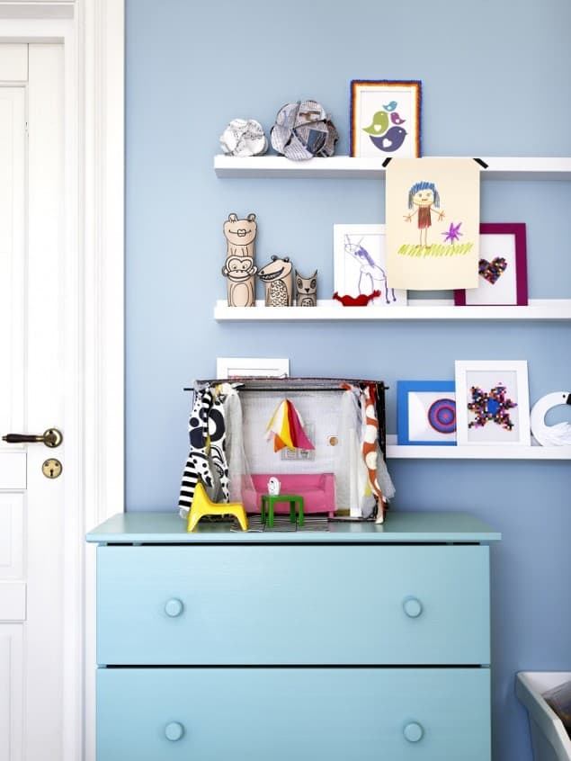Ikea Catalogue 2014 preview blue bedroom shelving