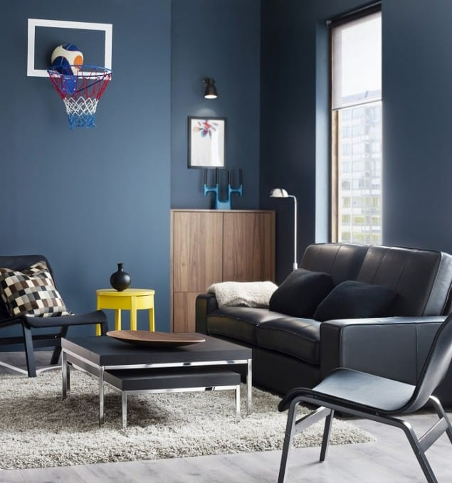 Ikea Catalogue 2014 preview blue living room