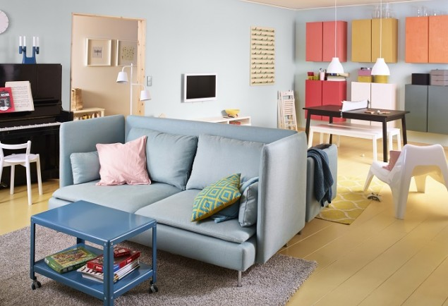 Ikea Catalogue 2014 preview pastel living room