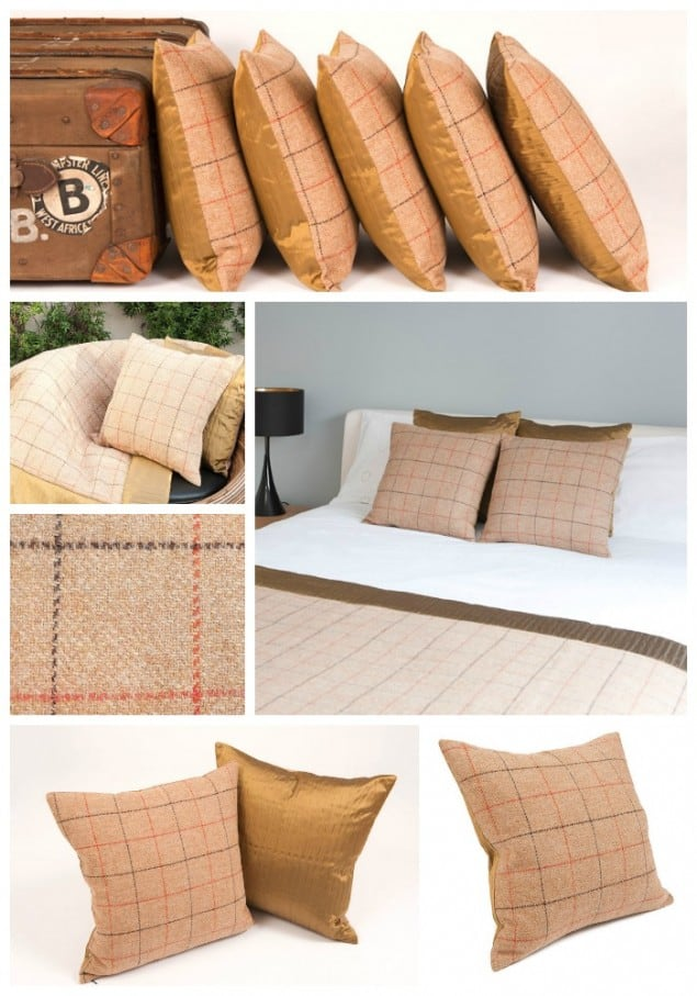 Thread & Favour Camel & Bronze Cushions