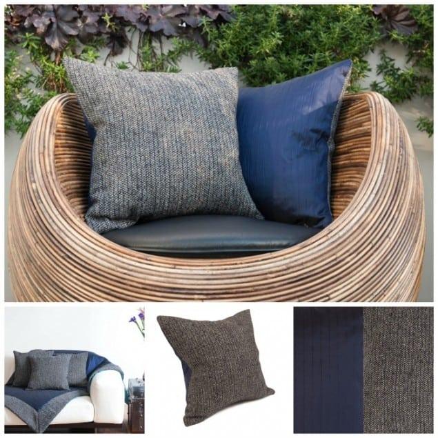 Thread & Favour Grey & Navy Cushions
