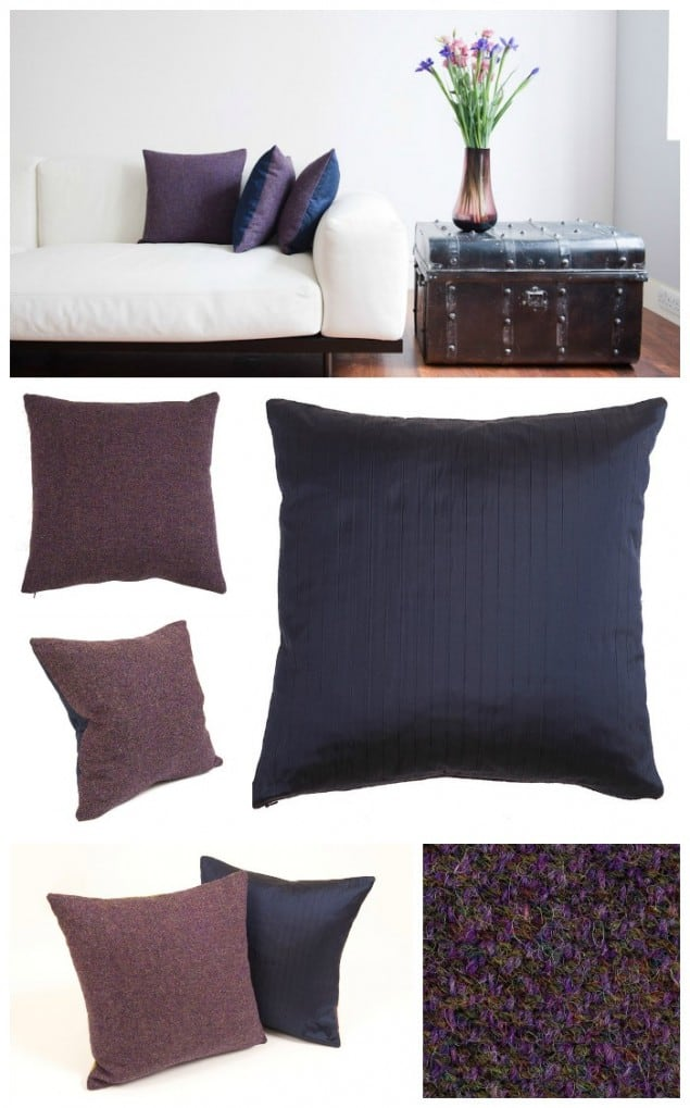 Thread & Favour Purple & Navy Cushions