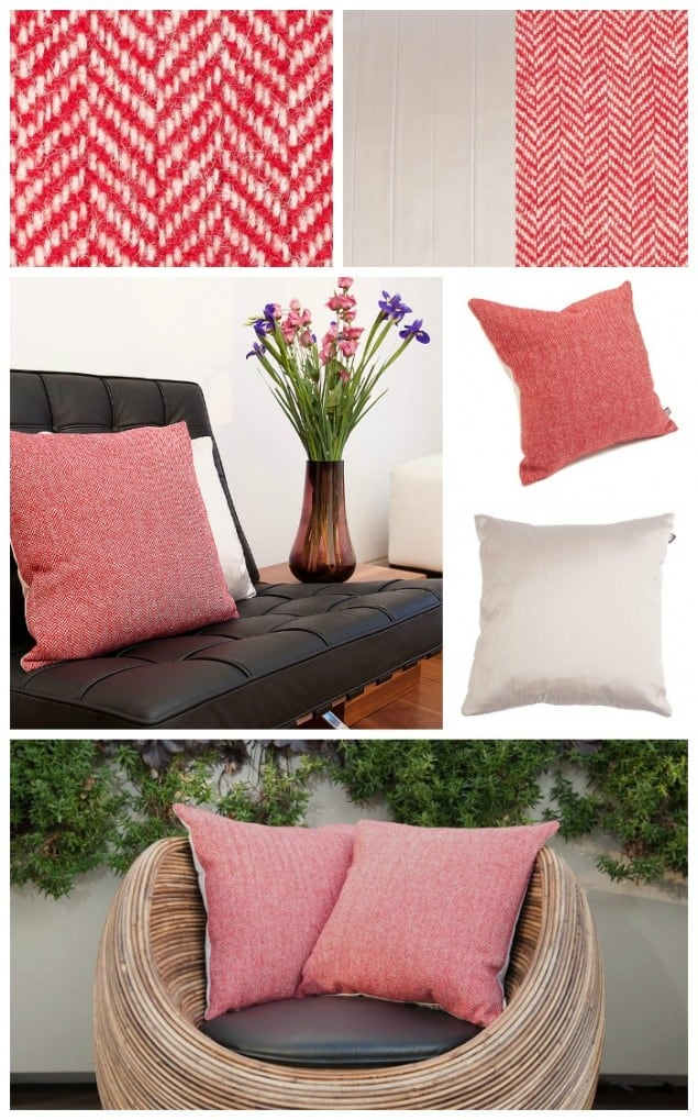 Thread & Favour Red & White Cushions